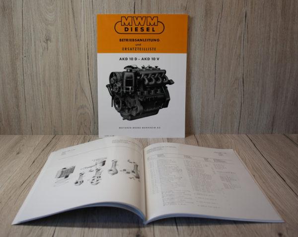 k DS Bild MWM BA ETL Art. MB11 Dieselmotor Motor AKD 10 D V