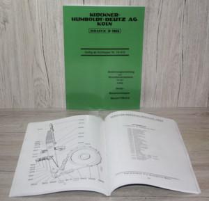 Deutz D7826 F1M414 Bedienungsanleitung Ersatzteilliste