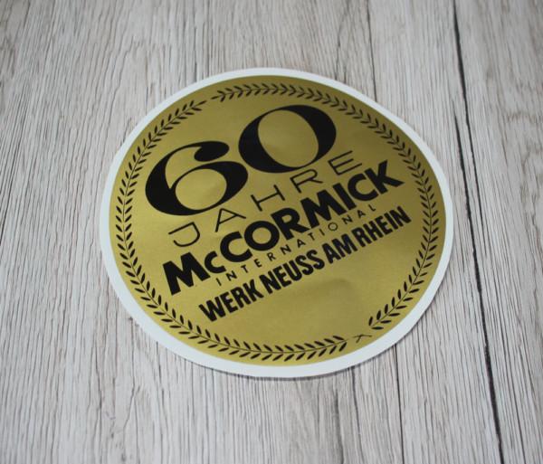 k DS Bild Aufkleber Mc Cormick 60 Jahre gold