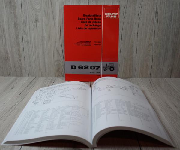 Deutz Fahr D 6207 Ersatzteilliste
