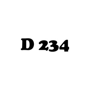 D 234