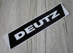 Deutz Aufkleber weis Kotflügel Baureihe 06