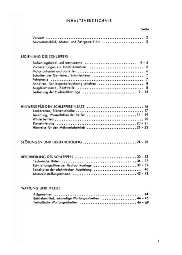 Inhalt Hanomag BA 301 4011
