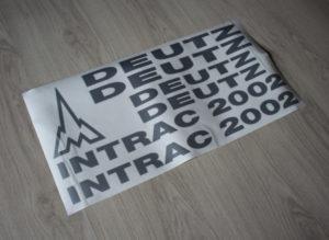 Deutz Intrac 2002 Aufkleber silber