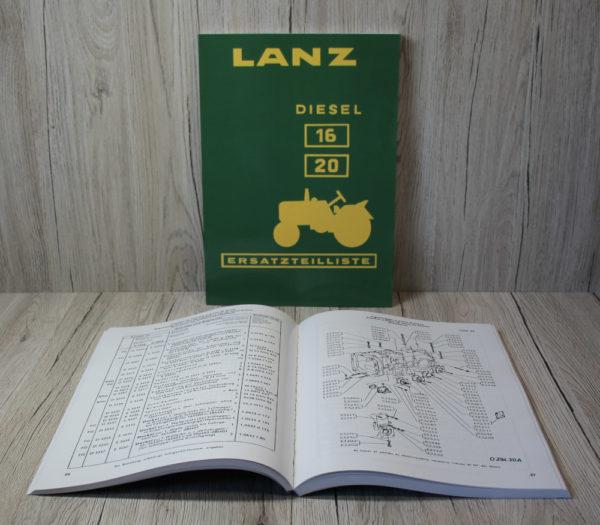Lanz D1616 D2016 Ersatzteilliste
