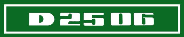 Deutz D2506 Aufkleber