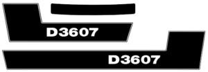 Deutz Aufkleber D3607 Traktor