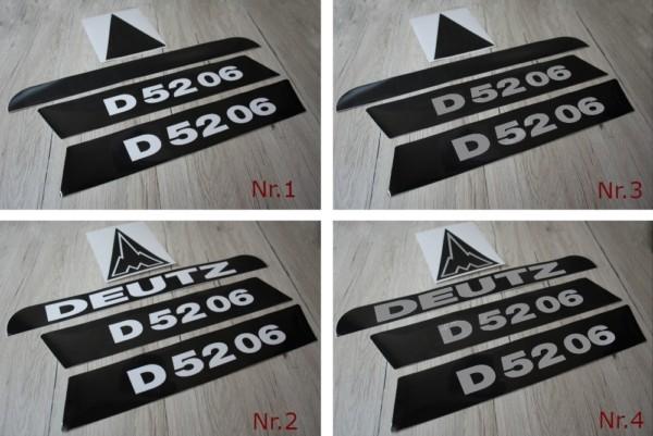 Deutz D5206 Aufkleber lang