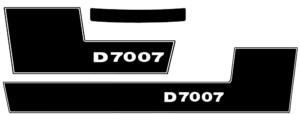 Deutz D7007 Aufkleber