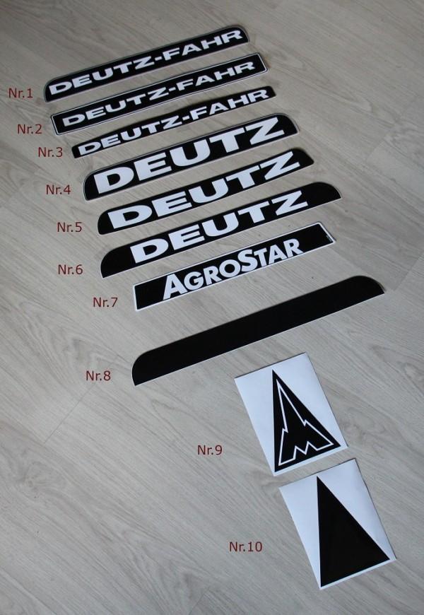 Deutz Fahr Agrostar 06 07 DX Aufkleber