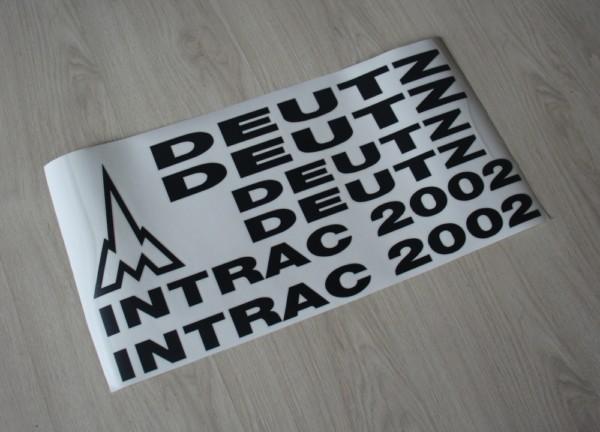 k Bild Aufkleber Deutz Intrac 2002 neu Art DA2002SW