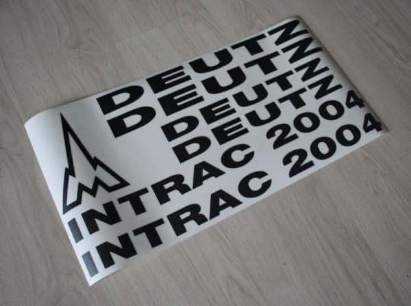 k Bild Aufkleber Deutz Intrac 2004 schwarz Art DA2004SW