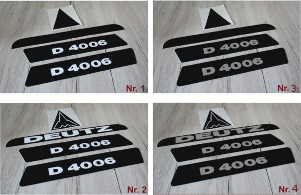Deutz Aufkleber D4006 lang