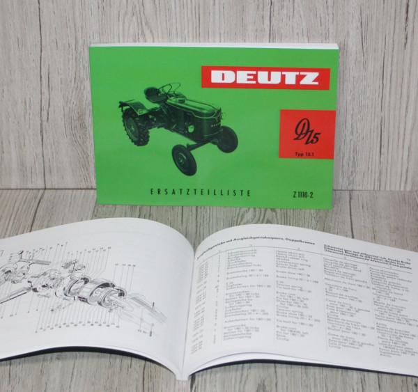 Deutz Ersatzteilliste Traktor D15 D15.1 N (Z1110-2)