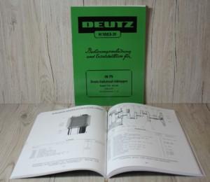 Deutz F2L514/54 Bedienungsanleitung Ersatzteilliste (H1053-27)