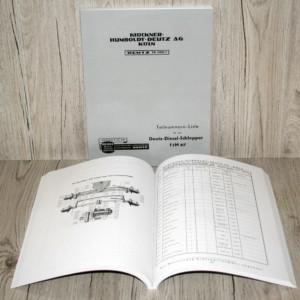 Deutz Ersatzteilliste für Stahl – Schlepper Bauart F2M417
