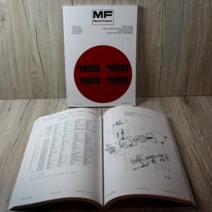 Eine umfangreiche Ersatzteilliste für die Massey Ferguson 165 168 185 188 Schlepper.