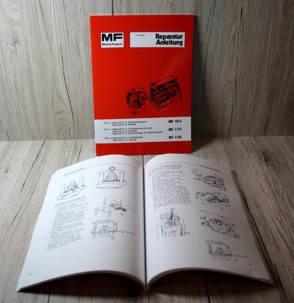 Massey Ferguson MF1014 - MF1114 - MF1134 Werkstatthandbuch Traktor