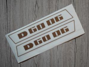 Deutz D6006 Aufkleber gold
