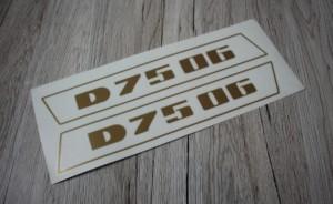 Deutz D7506 Aufkleber gold schmal