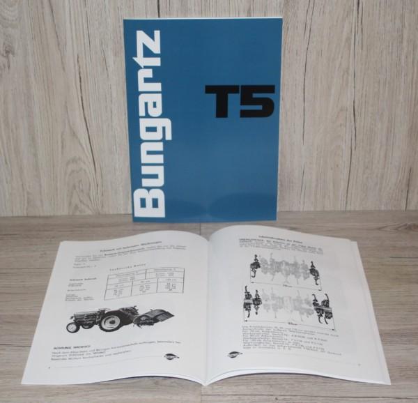 Bungartz Betriebsanleitung Ersatzteilliste T5 13PS
