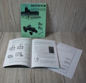 Deutz D30 D30S 28PS Bedienungsanleitung Traktor (H1125-3/3)