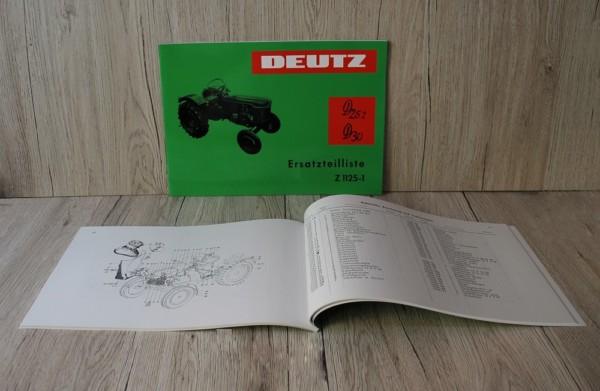 Deutz Ersatzteilliste für D 25.2-D30-D30S (Z1125-1)