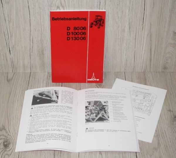 Deutz Bedienungsanleitung D8006 D10006 D13006