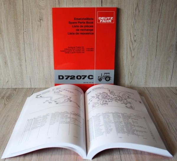 Deutz Ersatzteilliste Traktor D7207C