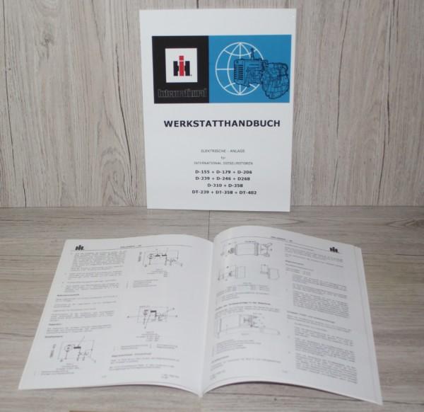 IHC D155-DT402 Werkstatthandbuch Elektrische Anlage für Motor