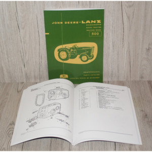 John Deere Lanz 500 Ersatzteilliste Traktor