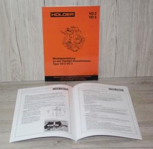 Holder Montageanleitung VD2-VD3 Viertakt Motor