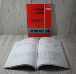 Deutz D4507 Ersatzteilliste