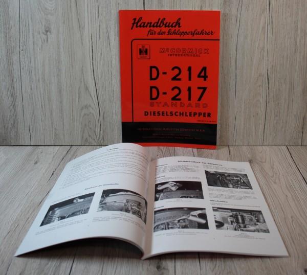 Mc Cormick D214-D217 Standard Bedienungsanleitung