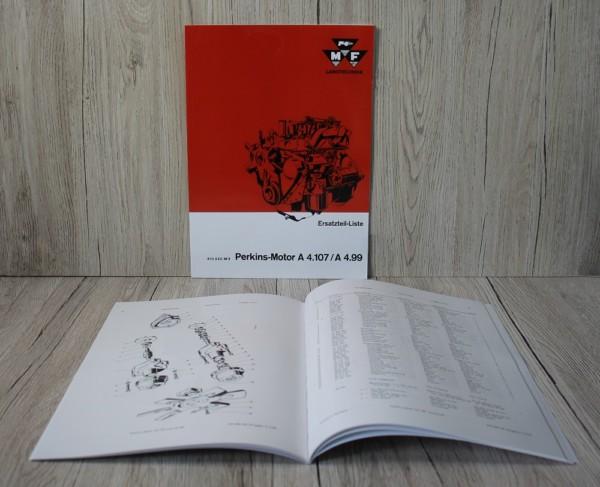EP100 k DS Bild Massey Ferguson Nr EP100 ETL Perkins Motor A 4107 A 499