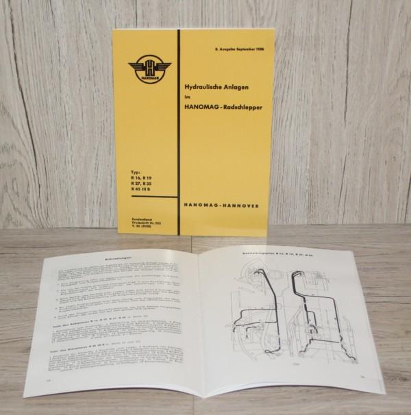 DS Bild BA Hanomag Hydraulische Anlage R 16 R 19 R 27 R35 R45